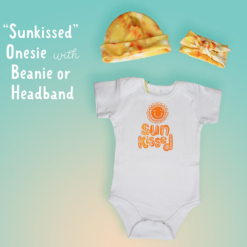 Sunkissed Onesie with matching Beanie or Headband