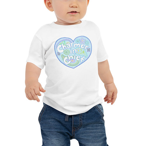 Blue Charmer-in-Chief Toddler Tee