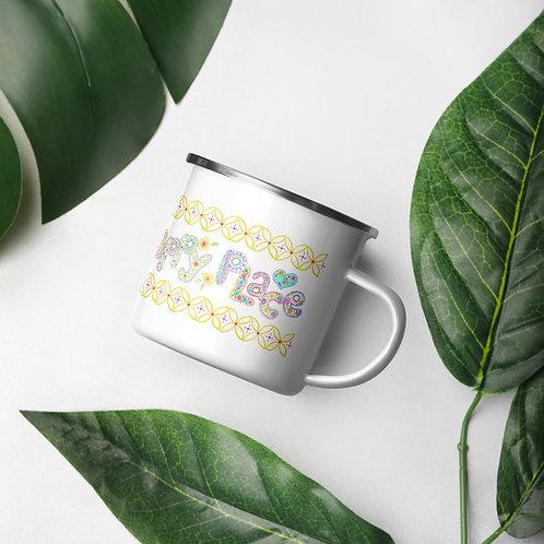 Happy Place Enamel Mug