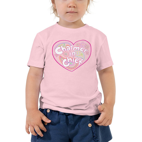 Pink Charmer-in-Chief Toddler Tee