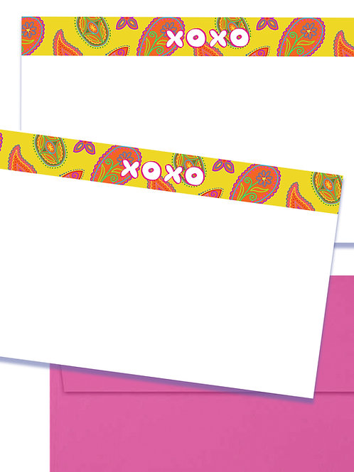 XOXO set of 5 notecards