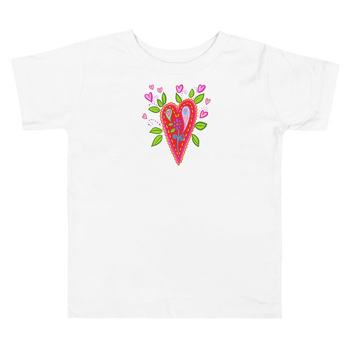 Blooming Heart Toddler Tee