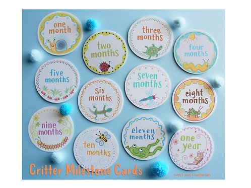 Critters Milestone Cards
