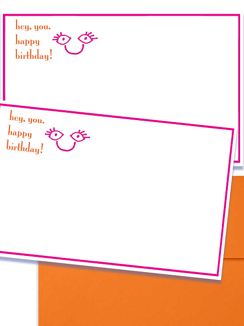 Happy Birthday set of 5 notecards