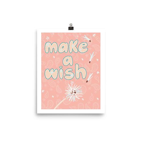 """Make a Wish"" 8"" x 10"" Poster"