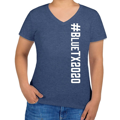 V-neck_Heather blue_#BlueTX2020