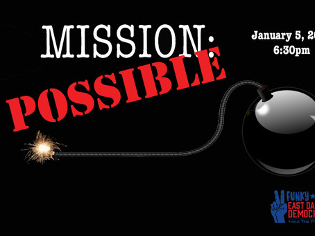 Mission Possible: FEDDs Meeting Tuesday, January 5th @ 6:30 PM
