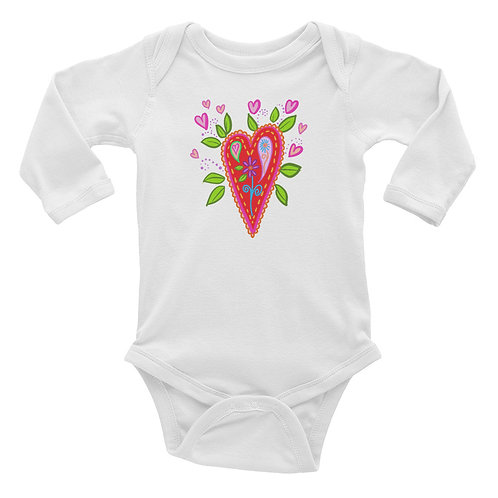 Blooming Heart Baby Bodysuit