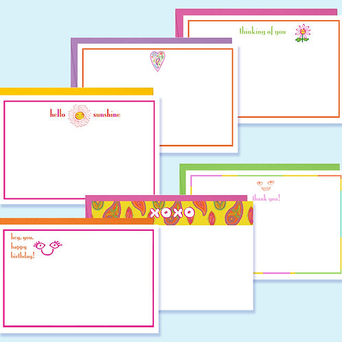 Stationery Sampler of Six Notecards with Envelopes