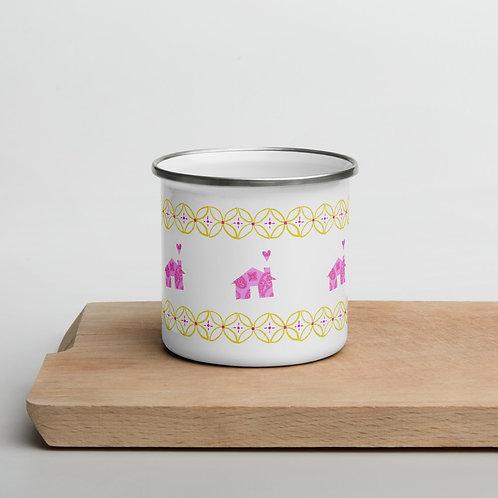 Happy Home Enamel Mug