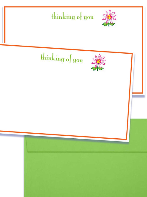 Thinking of You set of 5 notecards