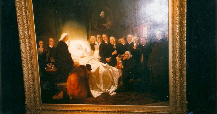 John Wesley's deathbed (Picture)