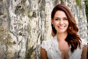 Welsh Wedding bride photograph in France