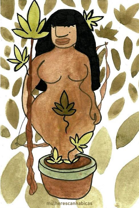 Deusa da Ganja por @brvta
