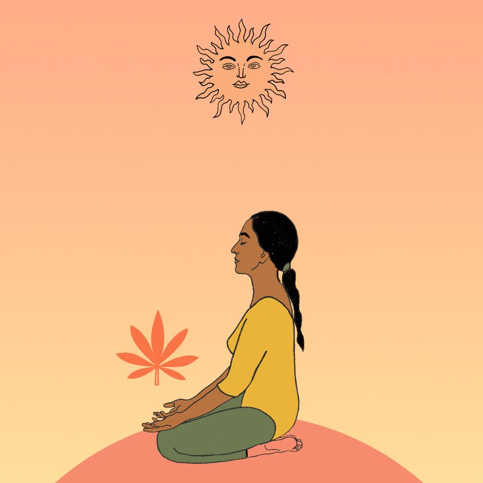 yoga canábica por Carol Lima @carolimapr