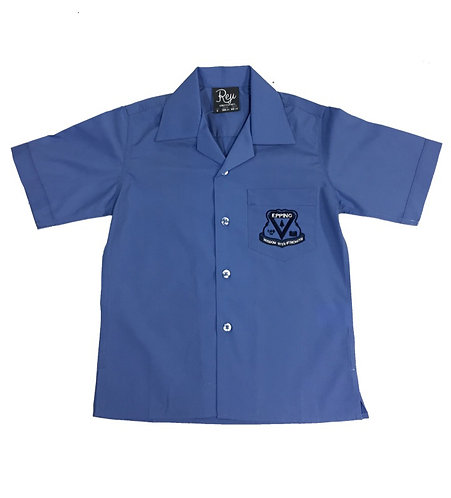 Boys Short Sleeve Shirt with Embroidery