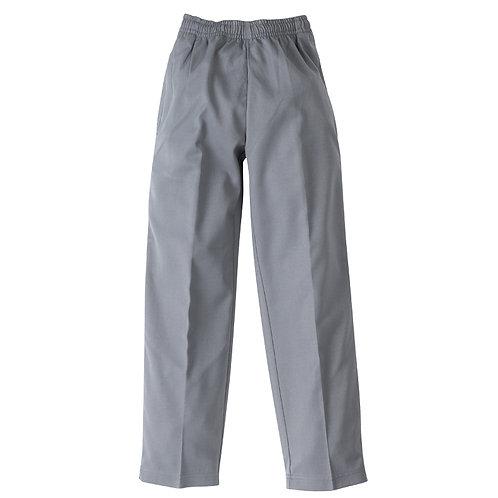 Boys Full Elastic Waist Pant - Grey
