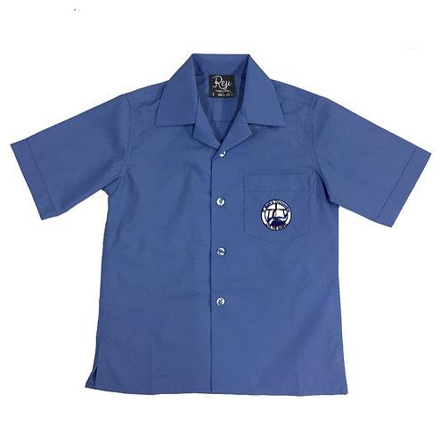 Boys Short Sleeve School Blue Shirt with Logo