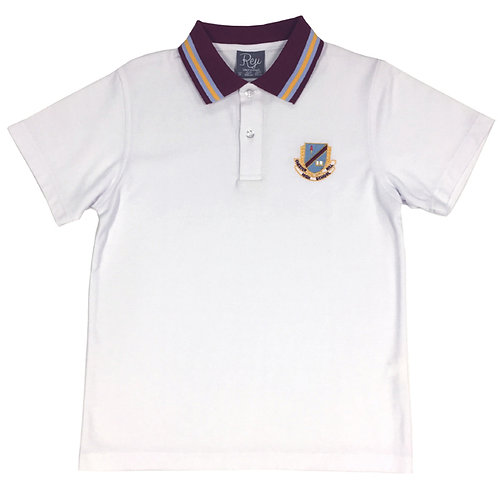 Polo Crested - White