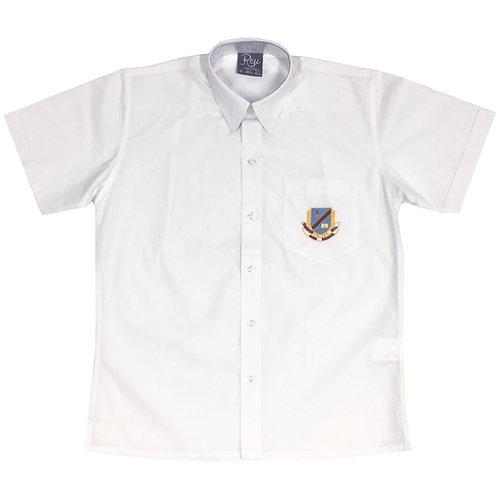 Boys Short Sleeve Crested Shirt