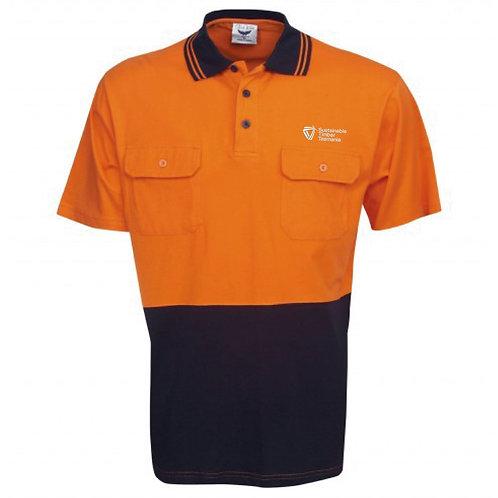 Hi Vis Cotton Short Sleeve Polo
