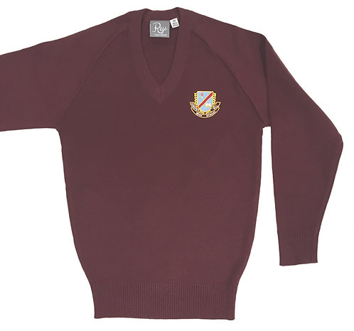 Knit Crested Jumper - Maroon