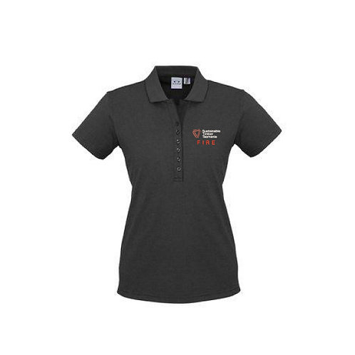 Fire Polo - Ladies Short Sleeve Polo - Graphite