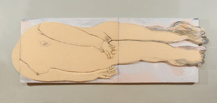 Lying_woman,_48.5×132inches,_oil,acrylic