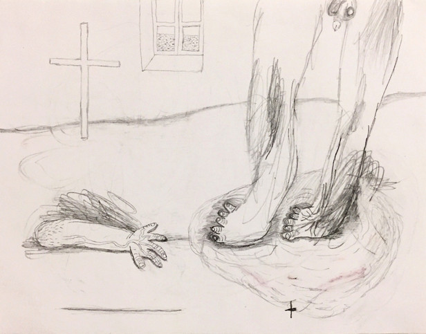 Feet and a Hand