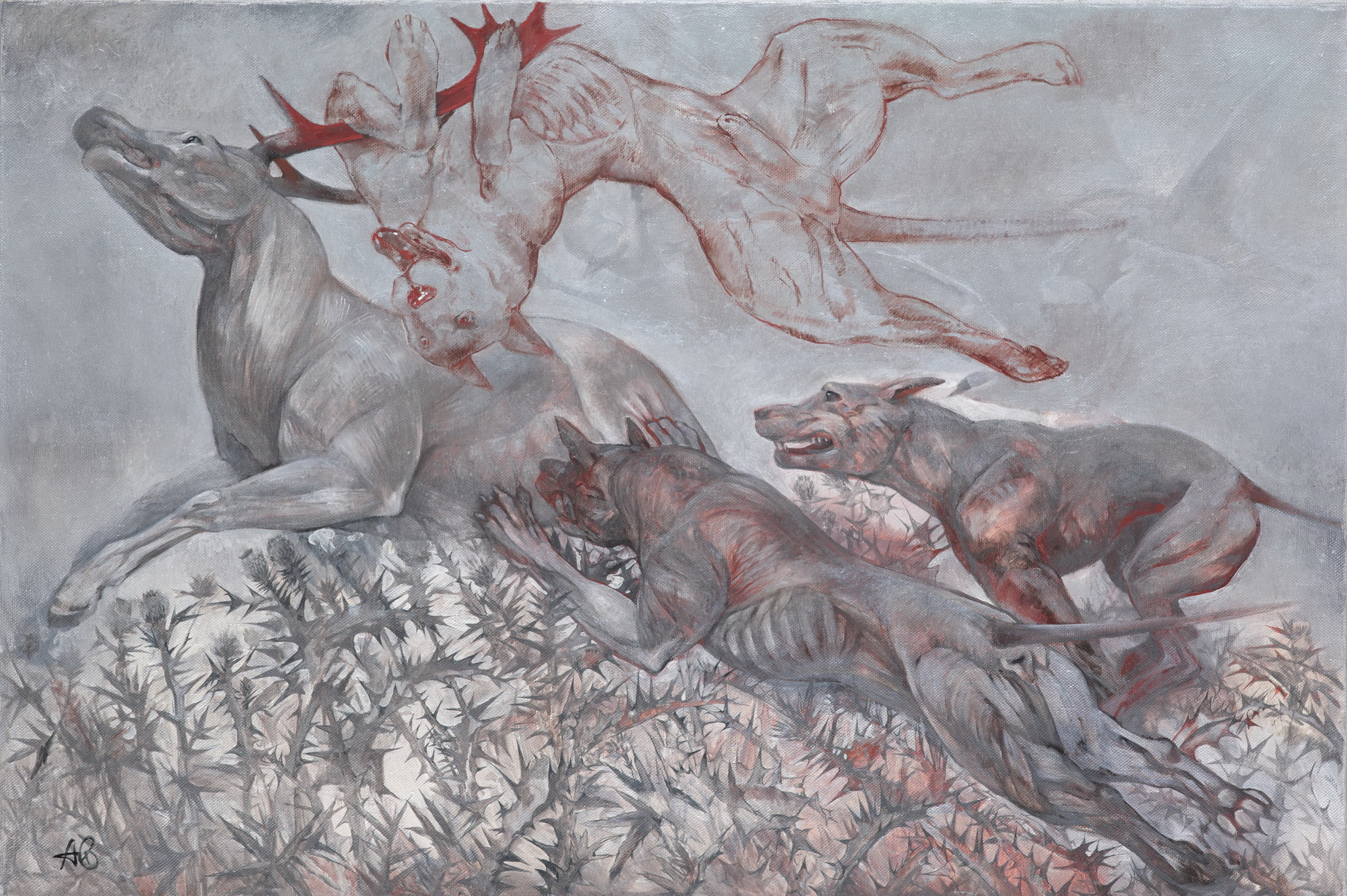 Alex Egorov. Dogs, deer, burdock