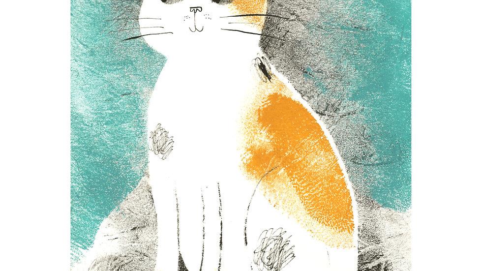 Mrs Mustard Cat print