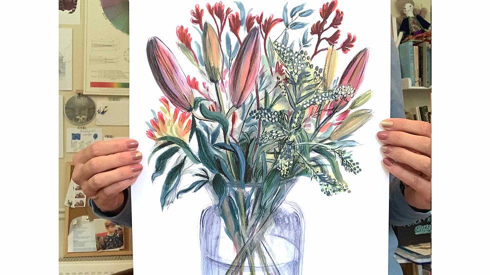 Autumn Flowers archival print