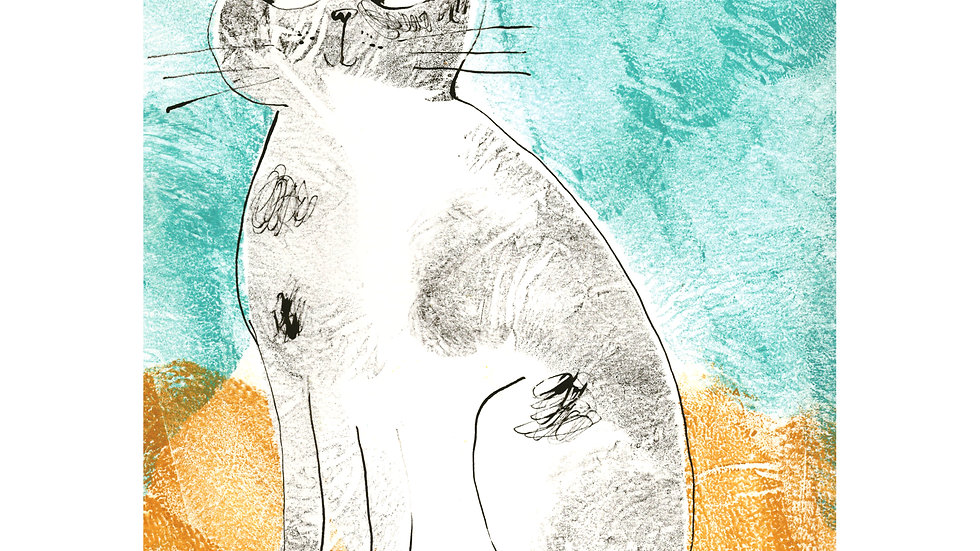 Mr Mustard Cat print