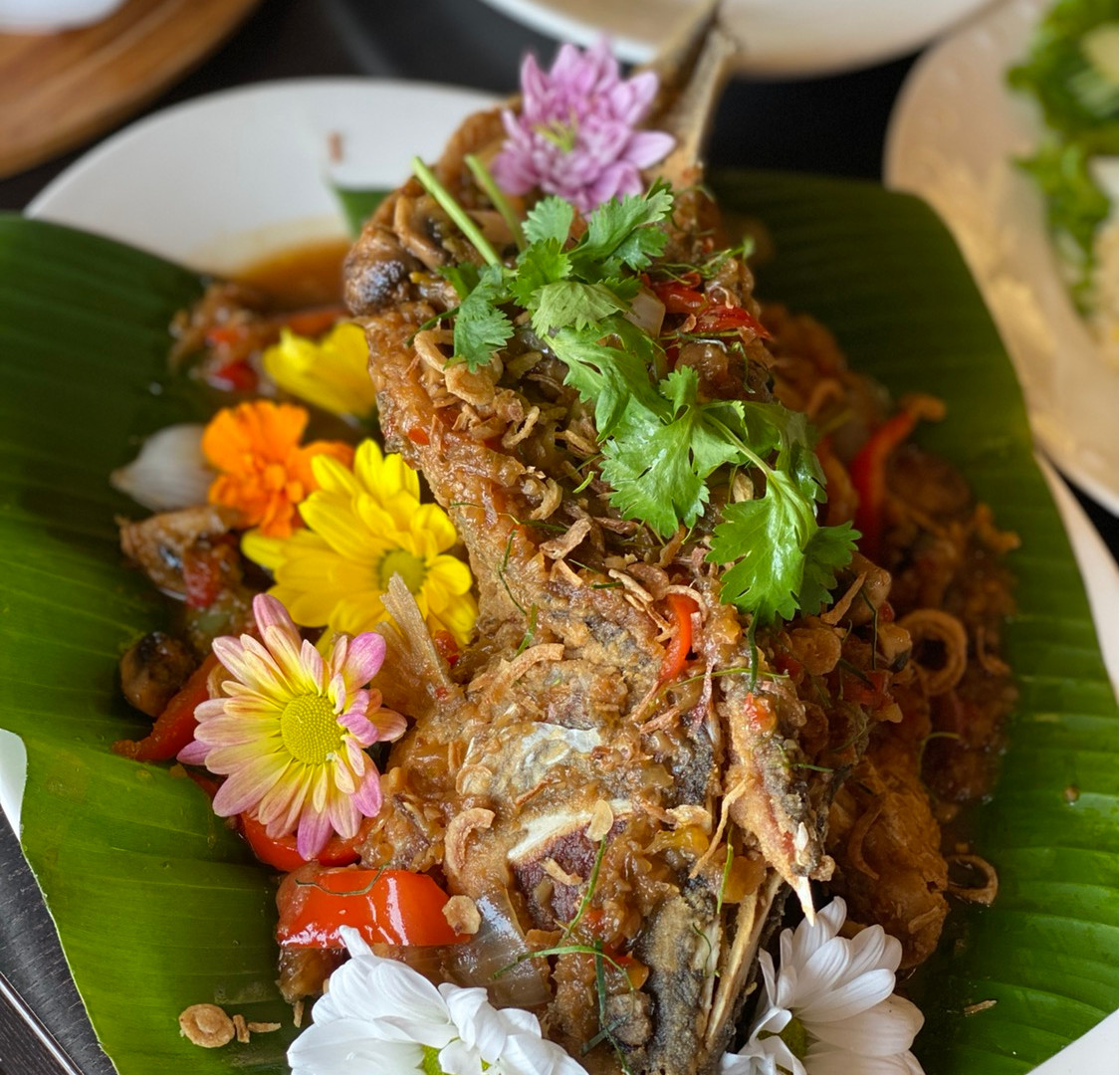 Whole Fish With Three Flavor Sauce
