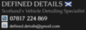 DEFINED DETAILS |  CAR DETAILING GLASGOW | CAR DETAILING SCOTLAND