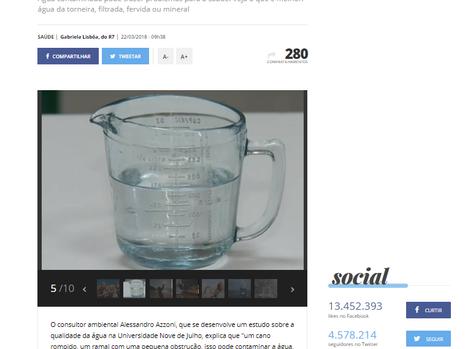 Você sabe qual é a qualidade da água que você bebe?