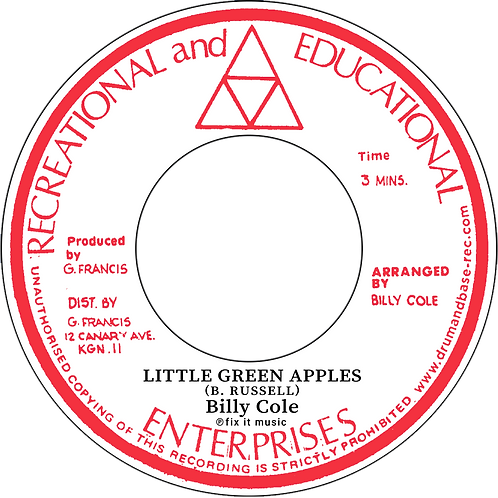 LITTLE GREEN APPLES / MYSTIC MOOD - BILLY COLE [7INCH]