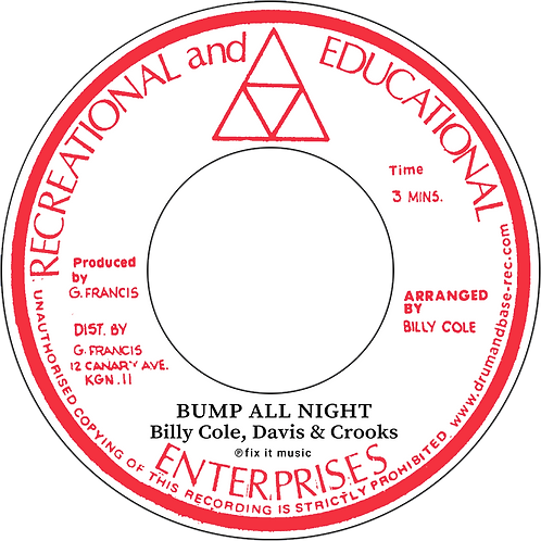 BUMP ALL NIGHT / WOMAN  - BILLY COLE [7INCH]