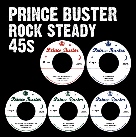 Prince Buster Rocksteady 45s