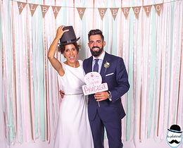 Photocall boda Alba y Sergio