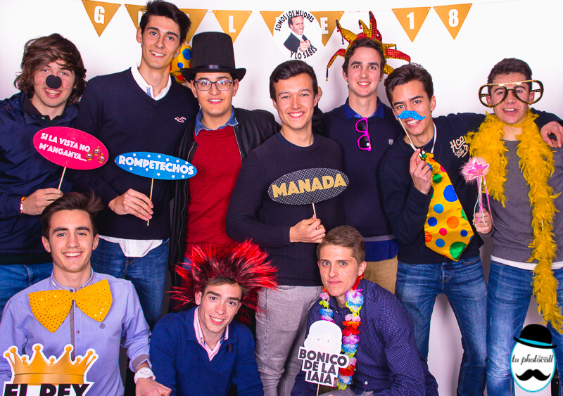 Photocall cumple Guille 1-18