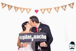 Photocall boda Nacho y Pilar