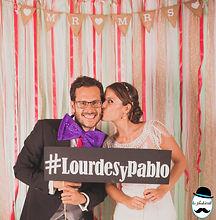 Photocall boda Lourdes y Pablo