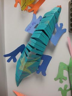 lizard, skink, reptle crafts, reptile paper activities for kids, Nature For You