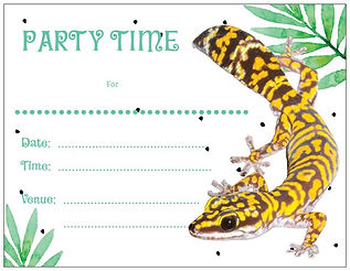 Marbled Velvet Gecko, birthday party help, birthday party invitations, reptile themed birthday party, reptile party invitations, Nature For You