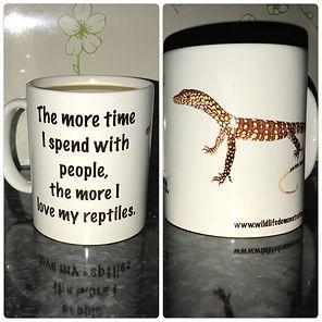 reptile, reptile giftware, ceramic coffee cup, mug, goanna, lizard, Nature For You