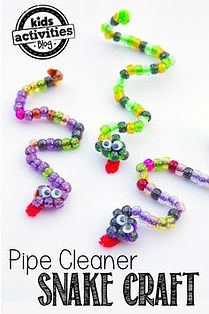 pipe cleaner snakes, reptile activities for kids, reptile crafts, Nature For You
