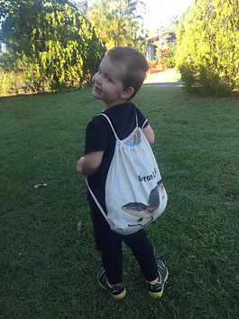 northern blue tongue, bag, kindy bag, library bag, reptile apparel, Nature For You
