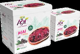 Criação de embalagem de Açaí para a marca Pico do Açaí.