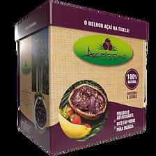 Criação de embalagem de Açaí para a marca Açaíssimo - Bahia.